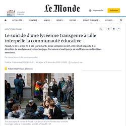 Le suicide d'une lycéenne transgenre à Lille interpelle la communauté éducative