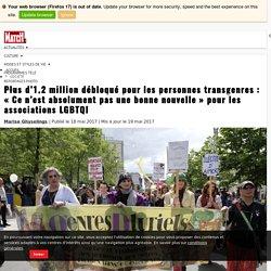"""Plus d'1,2 million débloqué pour les personnes transgenres : """"Ce n'est absolument pas une bonne nouvelle"""" pour les associations LGBTQI · Paris Match.be"""