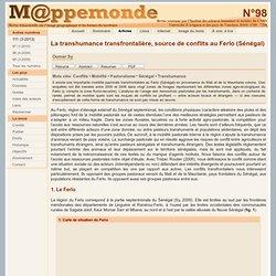 La transhumance transfrontalière, source de conflits au Ferlo (Sénégal)