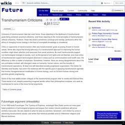 Transhumanism Criticisms - Future