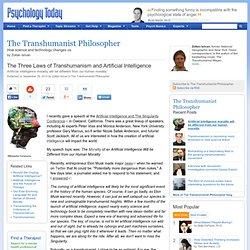 Les trois lois de transhumanisme et l'intelligence artificielle