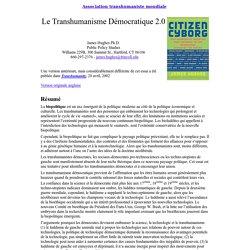 Transhumanisme Démocratique