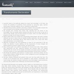 Transhumanist Declaration