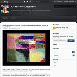 """Blaise Cendras-Sonia Delaunay """"La prose du transibérien et de la petite Jehanne de France"""" 1913. - Art-Histoire-Littérature"""