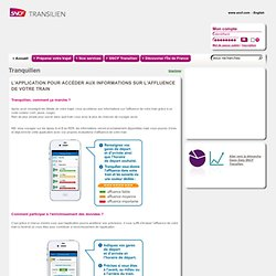 SNCF - Open Data - Tranquilien