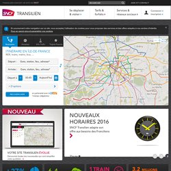 SNCF : transport paris, horaires trains, horaires RER, transport en Ile de France, sorties, loisirs