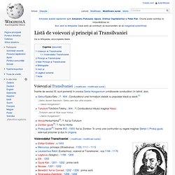 Listă de voievozi ai Transilvaniei