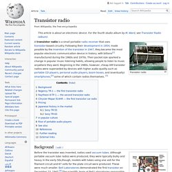 Transistor radio - Wikipedia