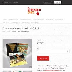 Transistor: Original Soundtrack (Vinyl)