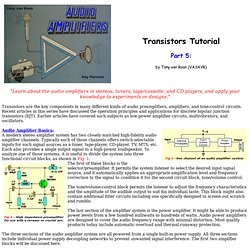 Transistor tutorial Audio Amplifiers, Part 5