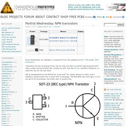 Partlist Wednesday: NPN transistors