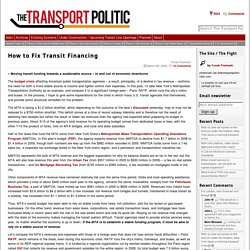 How to Fix Transit Financing