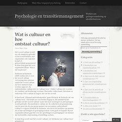 Wat is cultuur en hoe ontstaat cultuur?