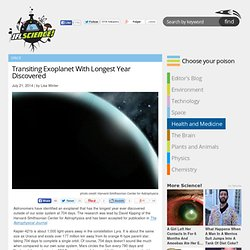Transiting Exoplanet With Longest Year Discovered