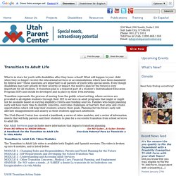 Transition to Adult Life « Utah Parent Center