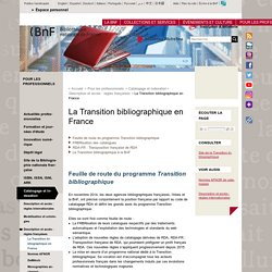 La Transition bibliographique en France