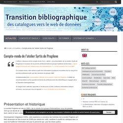 Compte-rendu de l'atelier Syrtis de Progilone (page d'un site web)