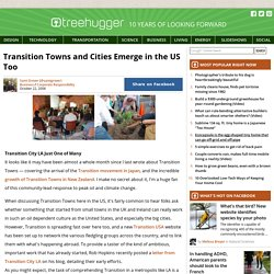 Transition Towns and Cities Emerge in the US Too