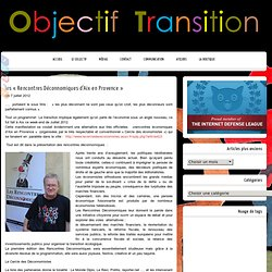 les «Rencontres Déconnomiques d'Aix en Provence»