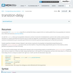 transition-delay - CSS