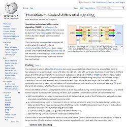 Transition-minimized differential signaling - Wikipedia