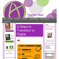 6 Steps to Transition to Digital - Teacher Tech