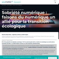 Sobriété numérique : faisons du numérique un allié pour la transition écologique