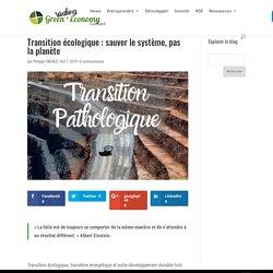 Transition écologique : sauver le système, pas la planète