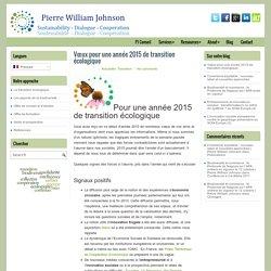 Vœux pour une année 2015 de transition écologique