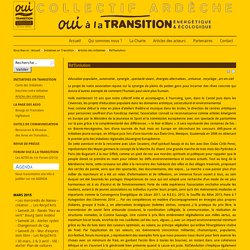 Oui à la transition énergétique et écologique - Collectif Ardèche - Rd'Evolution