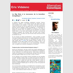 Eric Vidalenc » Blog Archive » Le Big Data à la rescousse de la transition énergétique ?