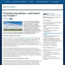 Transition énergétique: quel impact sur l'emploi?