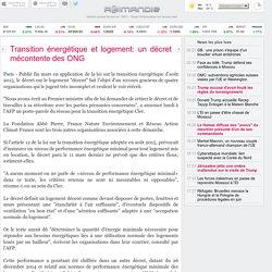 Transition énergétique et logement: un décret mécontente des ONG