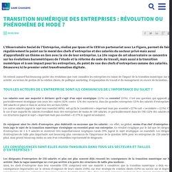 Transition numérique des entreprises : révolution ou phénomène de mode ?
