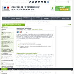 La transition écologique - Ministère de l'Environnement, de l'Energie et de la Mer