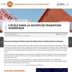 L'École dans la société en transition numérique - Fédération Sgen-CFDT