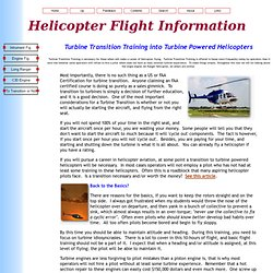 Turbine Transition Training, Flying Turbine Powered Helicopters
