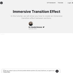 Immersive Section Transition Effect in CSS and JavaScript