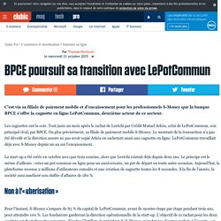 BPCE poursuit sa transition avec LePotCommun