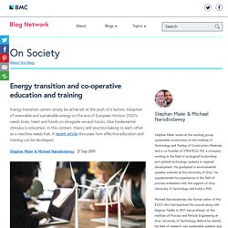 Energy transition and co-operative education and training - On Society