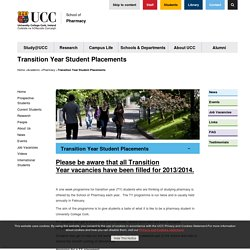 Transition Year Student Placements