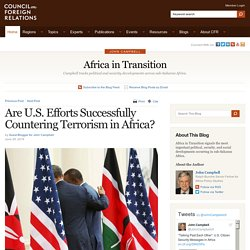Africa in Transition » Are U.S. Efforts Successfully Countering Terrorism in Africa?
