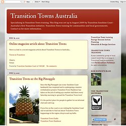 Transition Towns Australia