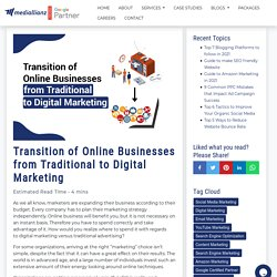 Transition of Online Businesses from Traditional to Digital Marketing