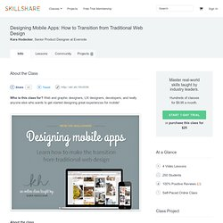 Designing Mobile Apps: How to Transition from Traditional Web Design