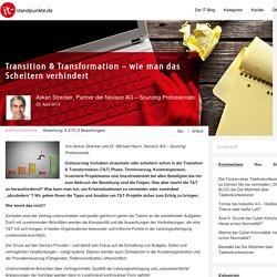 Transition & Transformation – wie man das Scheitern verhindert