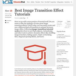 Best Image Transition Effect Tutorials