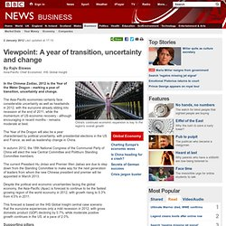 Viewpoint: A year of transition, uncertainty and change