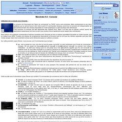 Linux Transition - Mandrake 9.2 - Utilisation : Console