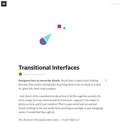Transitional Interfaces